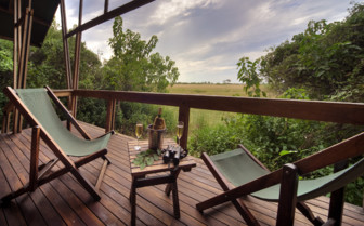 Patio at the Lebala Camp, luxury camp in Botswana