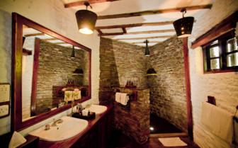 Luxury bathroom at Klein's Lodge