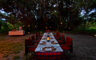 Outdoor dining at Klein's Lodge, luxury lodge in Tanzania