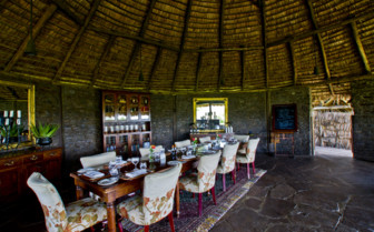 Inside dining area at the lodge