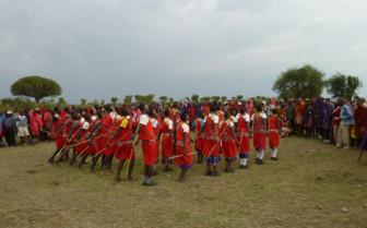 Traditional festival at Olakira Camp