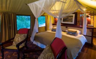Bedroom tent at Selinda Camp