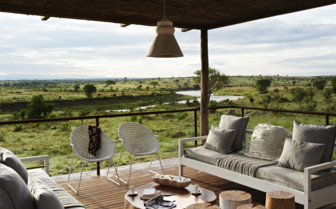The terrace with view of surrounding nature