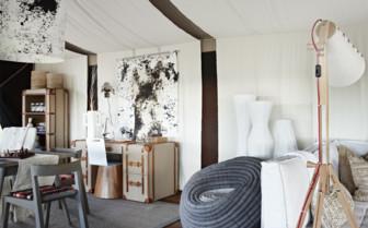 Interior design of a tent