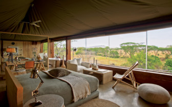 Villa suite interior design at Singita Faru Faru Lodge