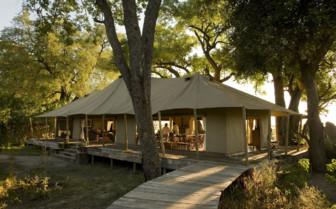 The tent exterior at Zafara Camp
