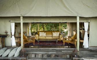 The living room area at Zafara Camp
