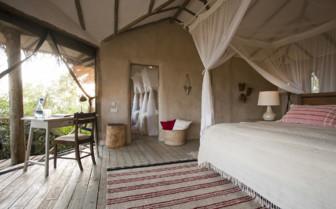 Tent interior design at Lamai Serengeti, luxury camp in Tanzania