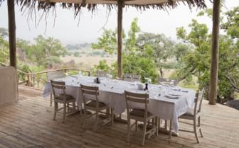 Outside dining area at Lamai Serengeti