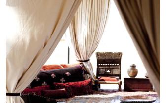 The tent interior at Sans Camp