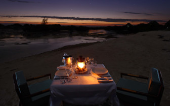 Picture of dining under the stars at Coral Lodge, Mozambique