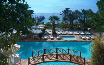 View across pool area at Marbella Club