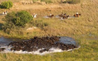 Horseback riding at Ride Makgadikgadi Pans camp