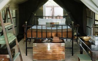 Guest Tent Interior at Ride Makgadikgadi Pans, luxury camp in Botswana