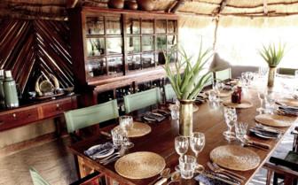 Dining at Ride Makgadikgadi Pans, luxury camp in Botswana