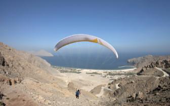 Paragliding at Six Senses Zighy Bay hotel