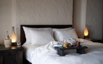 Bedroom at Six Senses Zighy Bay, luxury hotel in Oman