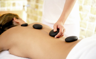 Hot stone treatment at Marbella Club spa