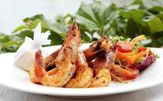 Seafood plate at Marabella Club hotel