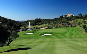 The golf course at Marbella Club, luxury hotel in Spain