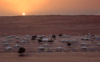 Camp overview at Desert Night Camp, luxury hotel in Oman