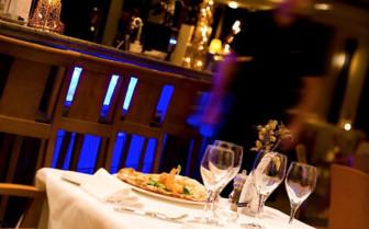 The restaurant at Marbella Club, luxury hotel in Spain