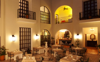 Dining at Hotel Guaycura, luxury hotel in Mexico