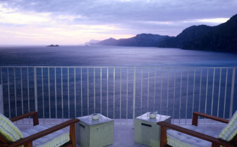 The terrace with view at Casa Angelina, luxury hotel in Italy