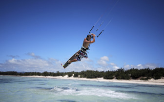Kitesurfing in Madagascar