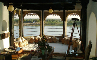 River view at Ahilya Fort hotel