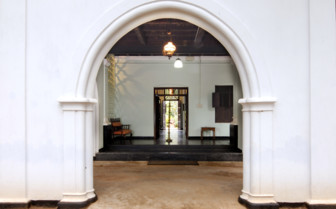 Entrance at Serenity, luxury hotel in India