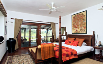 Bedroom at Samode Safari Lodge, luxury hotel in India