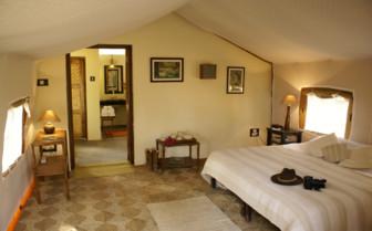 Bedroom at Shergarh, luxury hotel in India
