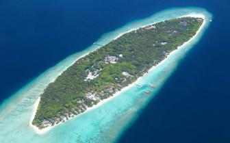 An Aerial View Of Soneva Fushi