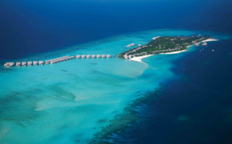 An Aerial View Of The Baa Atoll