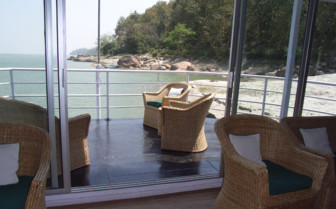 The Deck at Assam Bengal Navigation Boats, luxury hotel in India