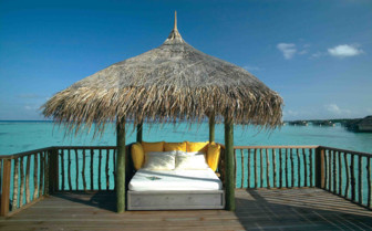A Daybed Overlooking The Indian Ocean