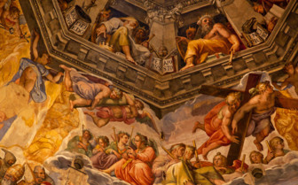 Artwork on the ceiling