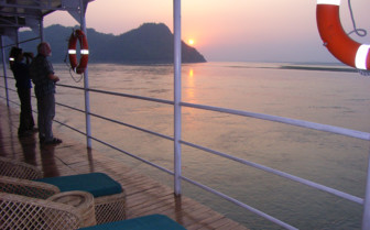 Sunset view from the boat