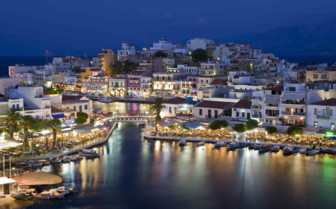Lights of Agios Nikolaos at Night