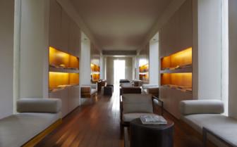 The library at Amanwella, luxury hotel in Sri Lanka