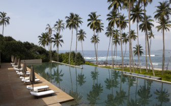 The swimming pool at Amanwella