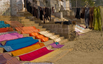 Saris drying in the sun