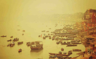 The Ganges in the mist