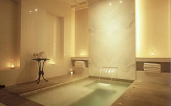 The indoor pool at Amangalla, luxury hotel in Sri Lanka