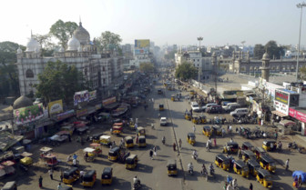 Busy street traffic
