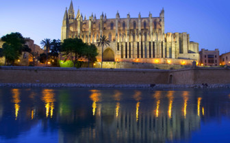 Le Seu Cathedral Lit up by Night