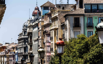 Colourful Town Houses in Granada
