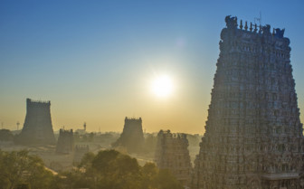 Dawn over the temples