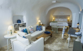 The Interior of a Classic Suite at Iconic Santorini